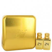Gift Set -- 24 Gold 50 ml Eau De Toilette Spray + 24 Gold Oud 50 ml Eau De Toilette Spray