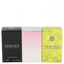 Gift Set -- Miniatures Collection Includes Crystal Noir, Bright Crystal and Versace Yellow Diamond