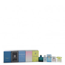 Gift Set -- The Best of Versace Men's and Women's Miniatures Collection Includes Versace Eros, Versace Pour Homme, Versace Man Eau Fraiche, Bright Crystal, and Versace Yellow Diamond