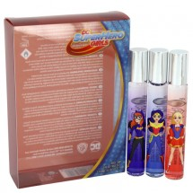 Gift Set -- DC Super Hero Girls Set includes Wonder Woman, Supergirl and Batwoman Roll-on EDT