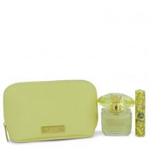 Gift Set --  100 ml Eau De Parfum spray + 9 ml  Mini EDP Spray  In Versace Yellow Pouch