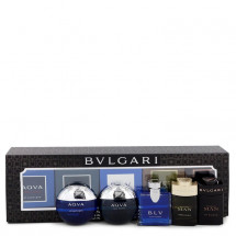 Gift Set -- Travel Size Gift Set Includes Bvlgari Aqua Atlantique, Aqua Pour Homme, BLV, Man Wood Essence, Man in Black all in 5 ml sizes